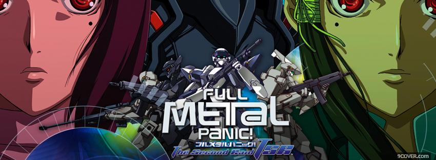 Photo anime full metal panic Facebook Cover for Free