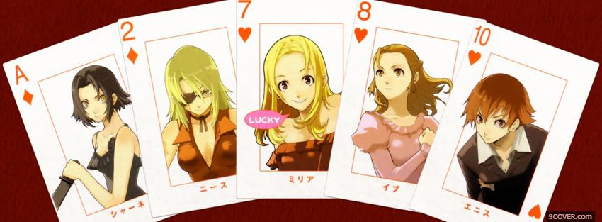 Photo manga baccano cards Facebook Cover for Free