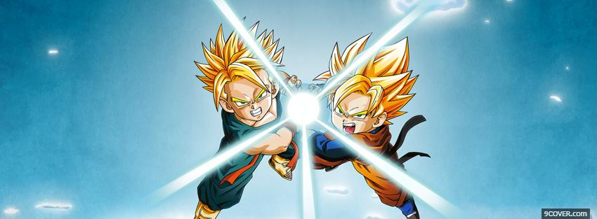 Photo manga dragon ball z fighting Facebook Cover for Free