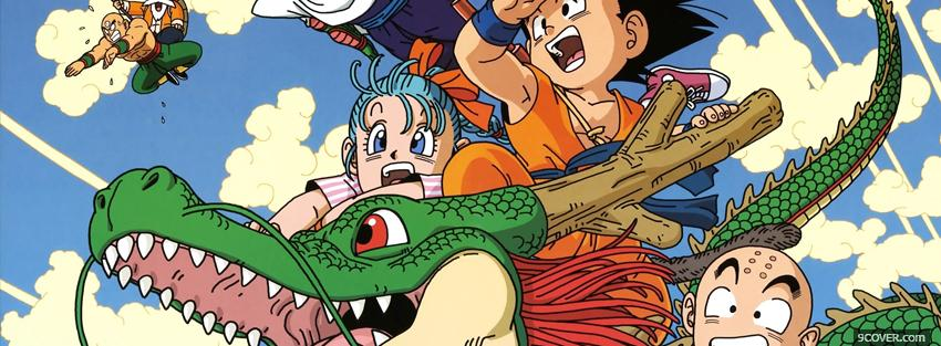 Photo manga dragon ball z with dragon Facebook Cover for Free