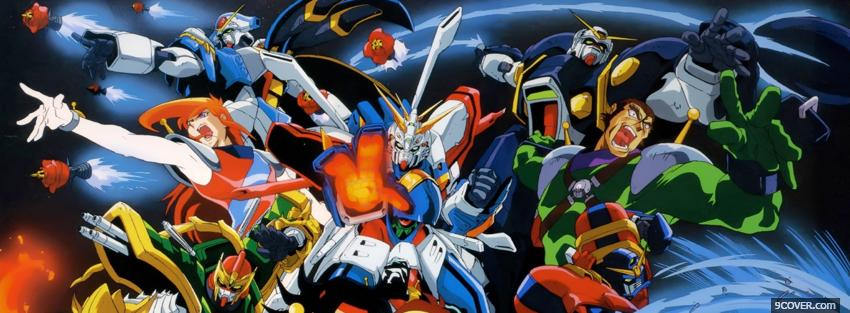 Photo mobile fighter g gundam Facebook Cover for Free