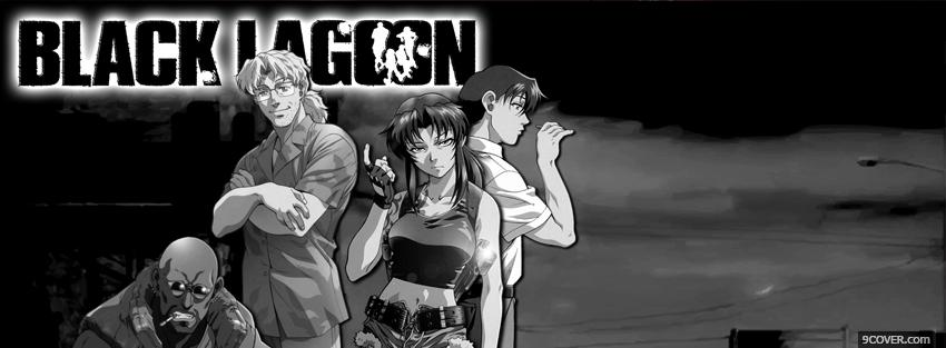 Photo black and white black lagoon Facebook Cover for Free