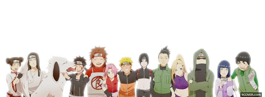 Photo manga naruto crew Facebook Cover for Free