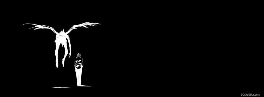 Photo black and white death note Facebook Cover for Free