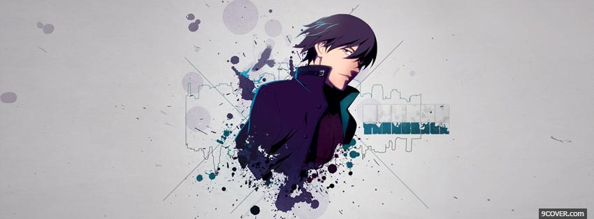 Photo manga darker than black male Facebook Cover for Free
