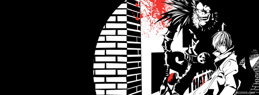 Photo manga death note Facebook Cover for Free