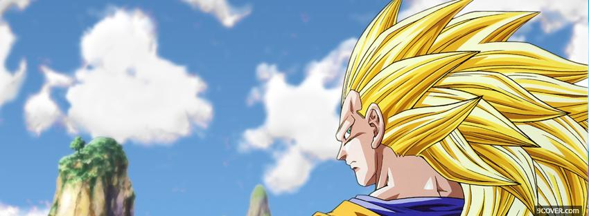 Photo manga blond male dragon ball z Facebook Cover for Free