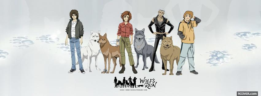 Photo manga wolf srain Facebook Cover for Free