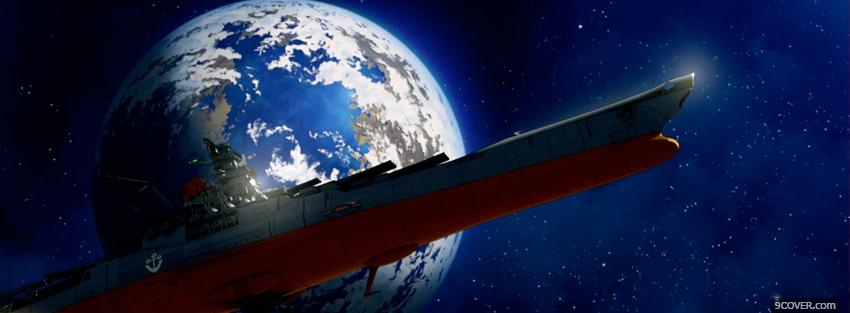 Photo space battleship yamato Facebook Cover for Free