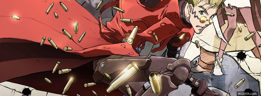 Photo vash the stampede and bullets Facebook Cover for Free