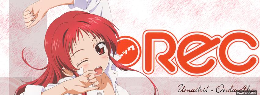 Photo rec anime red hair Facebook Cover for Free