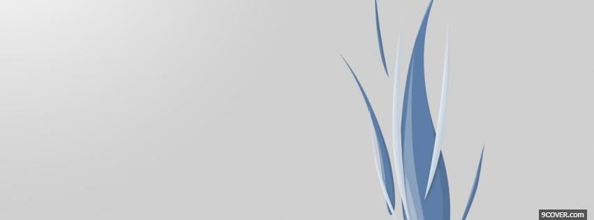 Photo blue abstract flames Facebook Cover for Free