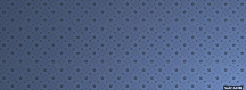 Photo blue crown pattern Facebook Cover for Free