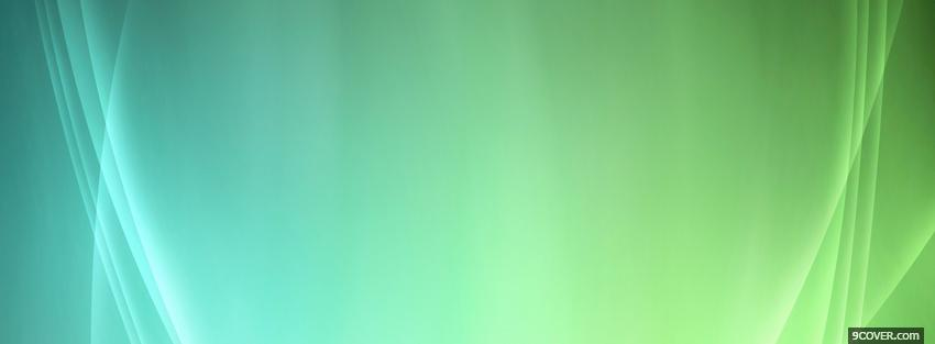 Photo smooth blue and greem Facebook Cover for Free