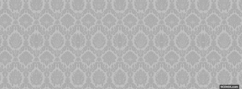 Photo wonderful white pattern Facebook Cover for Free