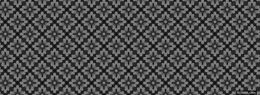 Photo beatiful flower pattern Facebook Cover for Free
