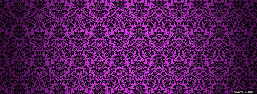 Photo energetic purple pattern Facebook Cover for Free