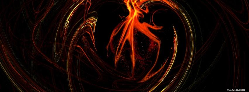 Photo fiery abstract Facebook Cover for Free