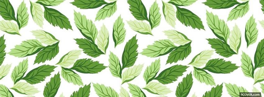Photo green leaves abstract Facebook Cover for Free