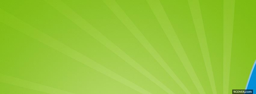 Photo lime green lines Facebook Cover for Free