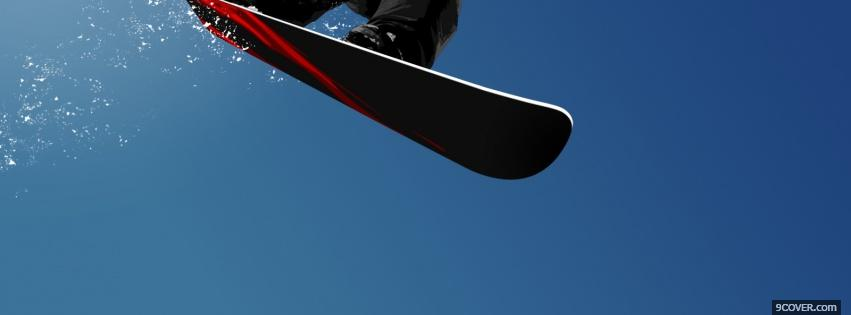 Photo snowboarding abstract Facebook Cover for Free