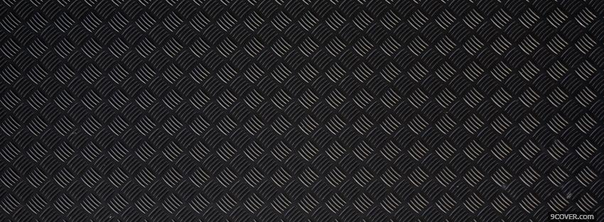 Photo black square pattern Facebook Cover for Free