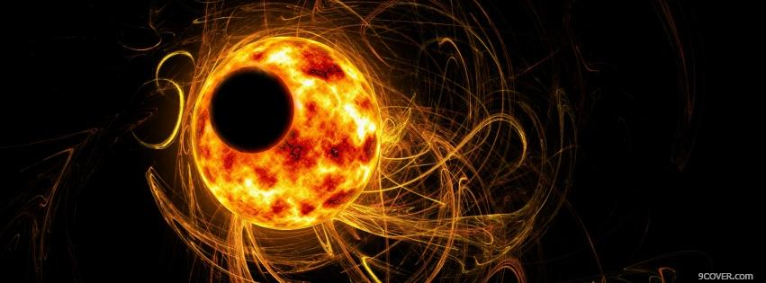 Photo dark abstract eclipse Facebook Cover for Free