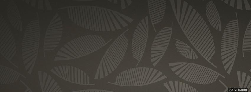 Photo dark abstract leaves Facebook Cover for Free