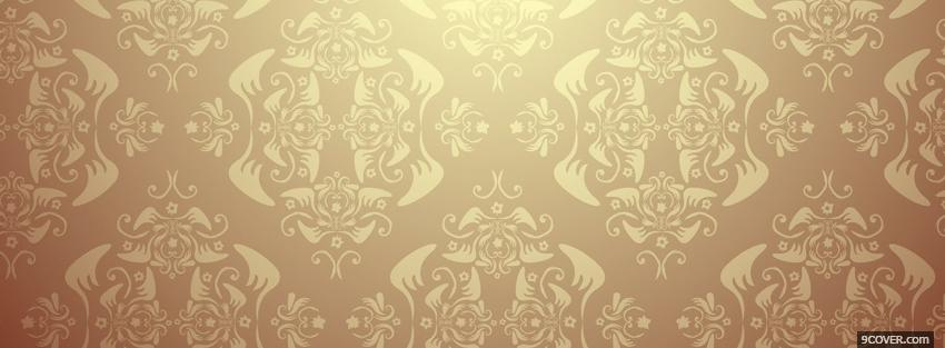Photo fun beige pattern Facebook Cover for Free