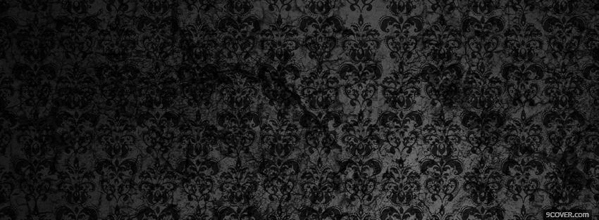 Photo nice black flowers abstract Facebook Cover for Free