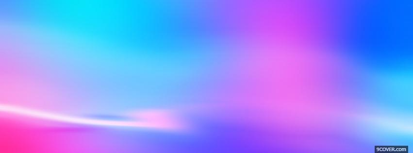 Photo pink and blue sky abstract Facebook Cover for Free