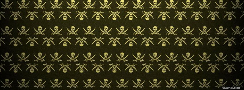 Photo skulls and swords abstract Facebook Cover for Free