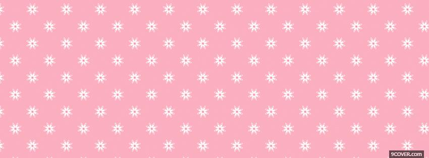 Photo white flowers with pink Facebook Cover for Free