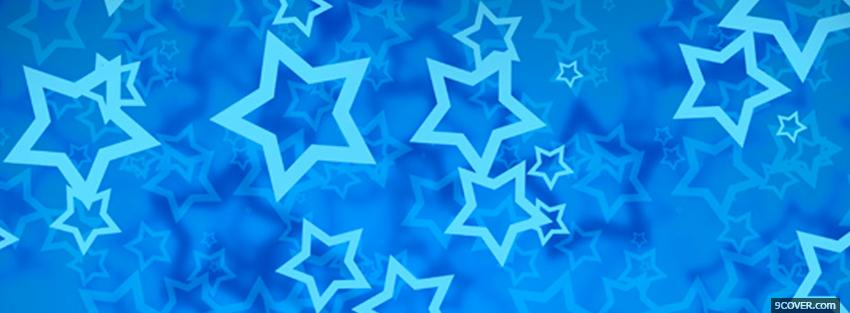 Photo blue abstract stars Facebook Cover for Free