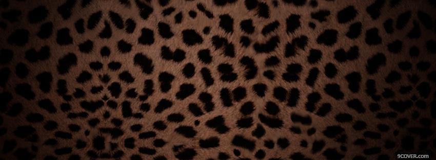 Photo leopard animal print abstract Facebook Cover for Free