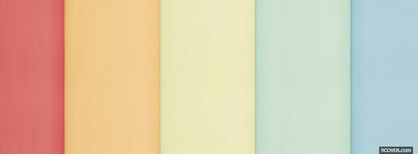 Photo pastel colours together Facebook Cover for Free
