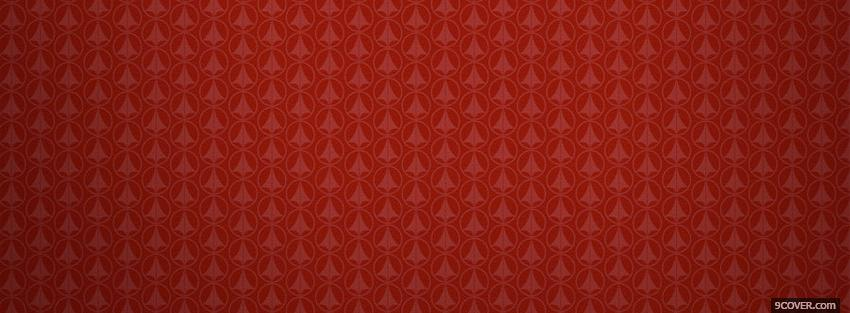 Photo red and different pattern Facebook Cover for Free