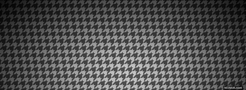 Photo classic black and white pattern Facebook Cover for Free