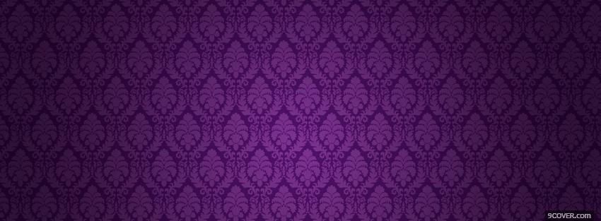 Photo dark purple flowers Facebook Cover for Free