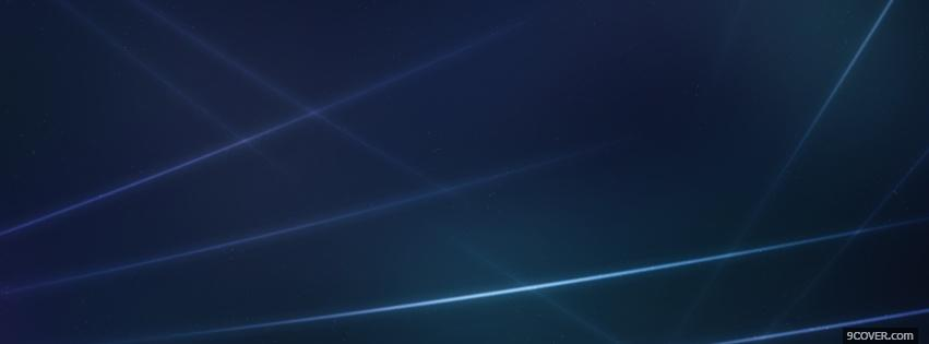 Photo electric blue lines abstract Facebook Cover for Free