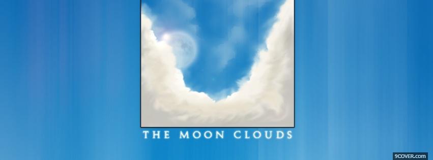 月亮云抽象的 facebook