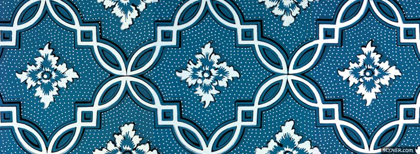 Photo floral white and blue Facebook Cover for Free