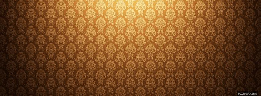 Photo gold floral pattern Facebook Cover for Free