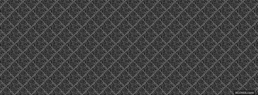 grey and black fun pattern photo facebook cover
