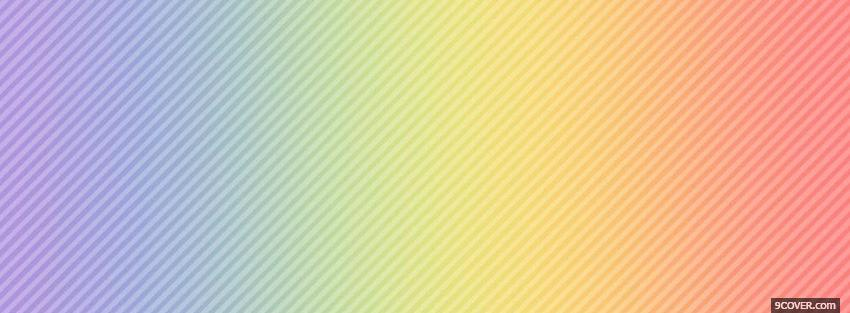 Photo rainbow pastel colours Facebook Cover for Free