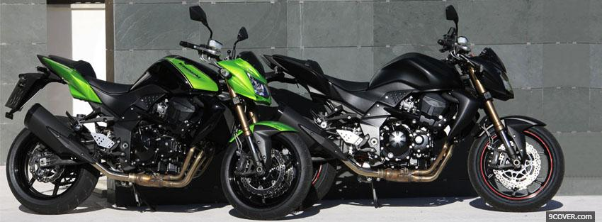 Photo two kawasaki moto Facebook Cover for Free