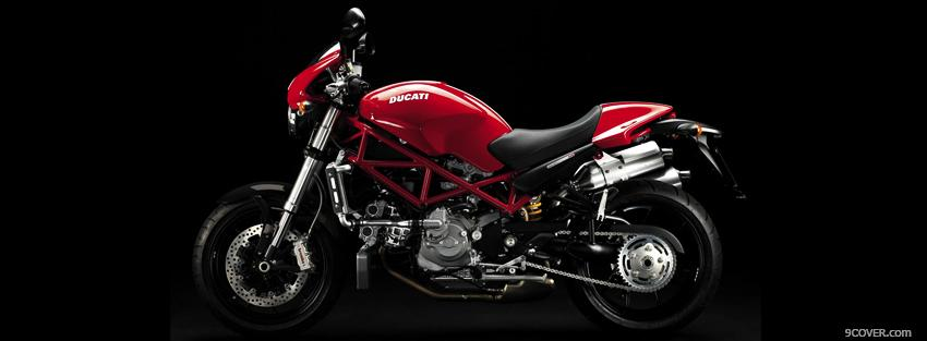 Photo ducati monster s4r moto Facebook Cover for Free