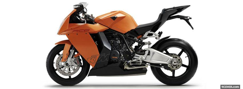 Photo ktm 1190 rc8 moto Facebook Cover for Free