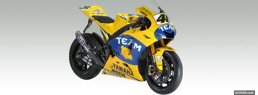 Photo blue yellow yamaha Facebook Cover for Free