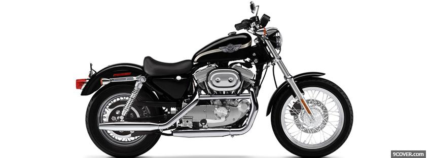 Photo harley davidson sportster moto Facebook Cover for Free